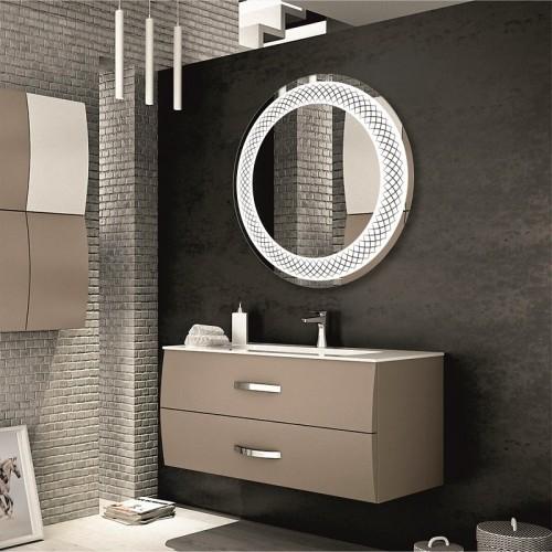 Круглое зеркало в ванную комнату с подсветкой Сидней